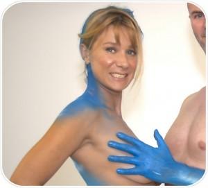 Frau-Mann-Partnerschaft-Bodypaint